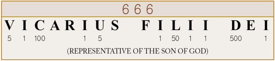 666_Vicarius Filli Dei